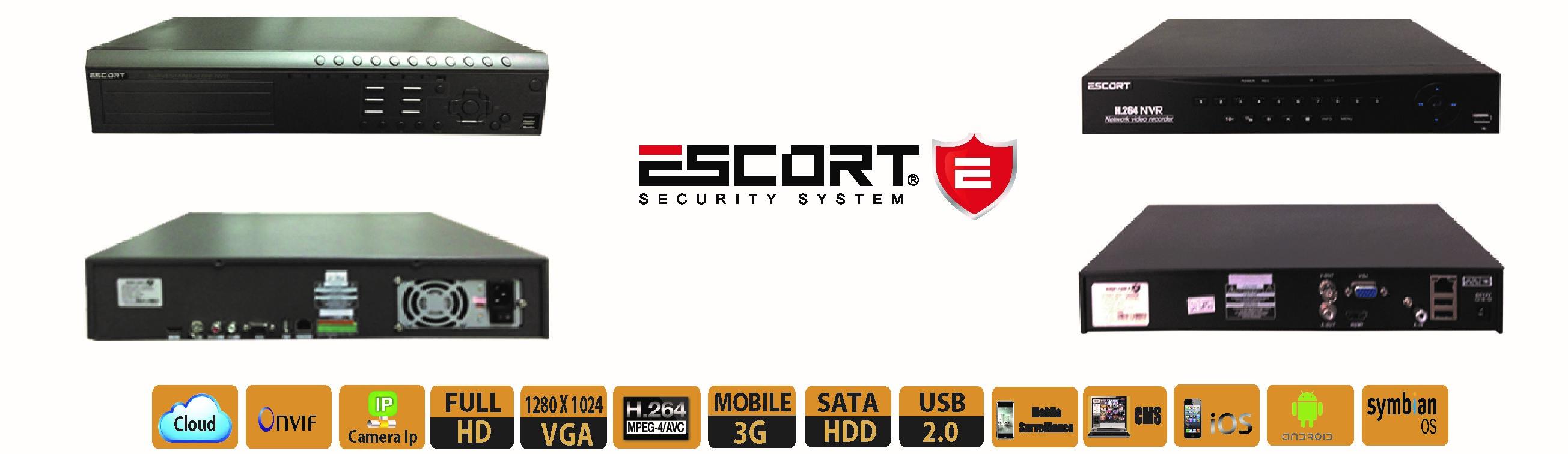Giới thiệu dòng sản phẩm đầu ghi hình tích hợp camera ip mang thương hiệu escort