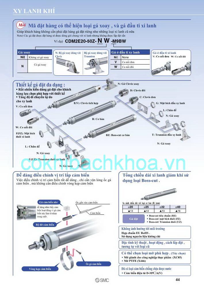 Xi lanh khí nén SMC loại CM2