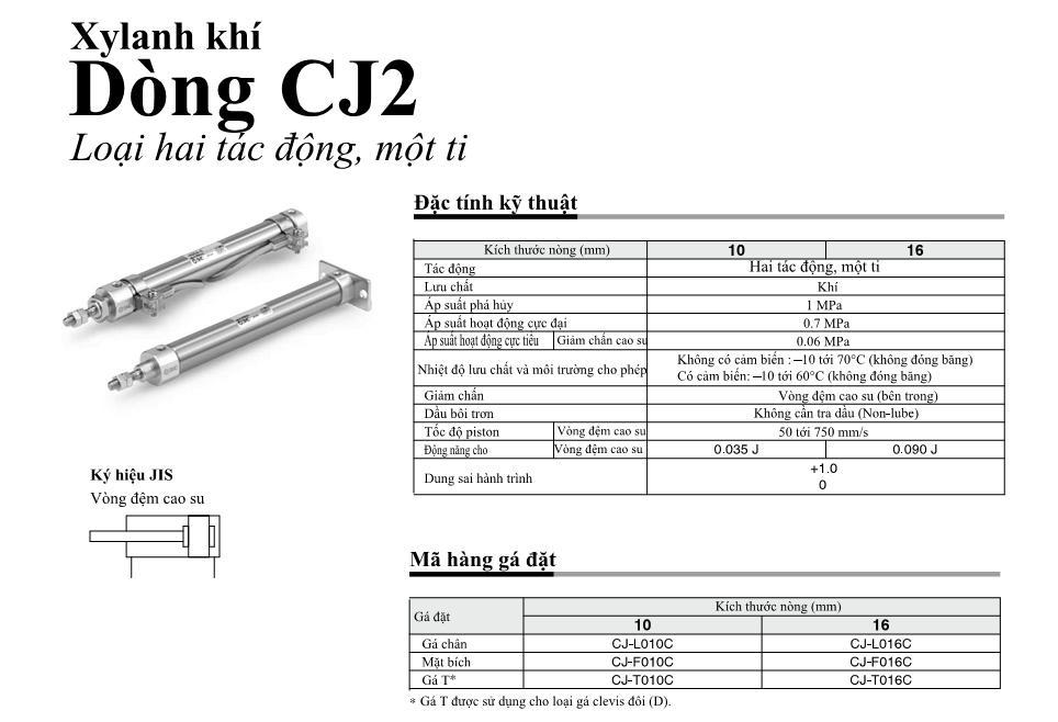 Xi lanh khí nén SMC, dòng CJ2