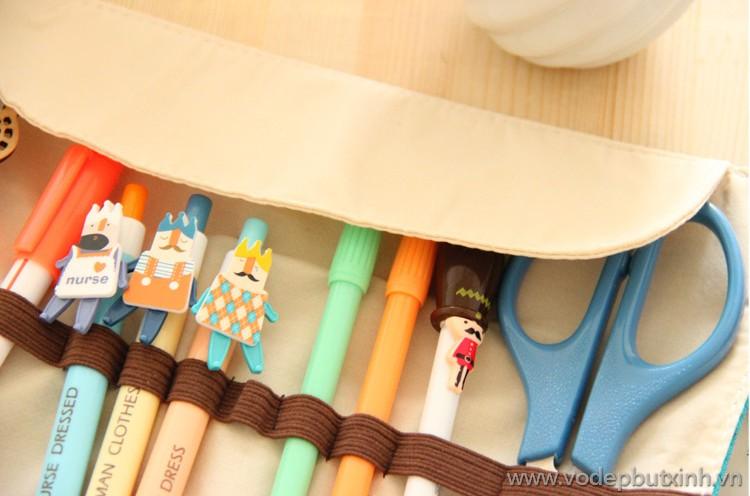 Túi bút cuộn Pura Girl K1206 80g