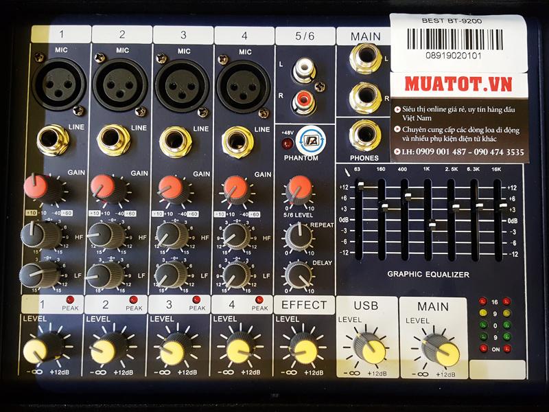 Loa di động dùng điện 2 bass Best BT-9200