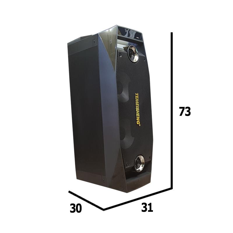 Loa kéo di động mini 2 bass Temeisheng TMS-802