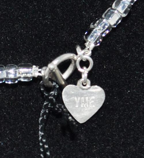 khóa bạc vòng cổ đá pha lê