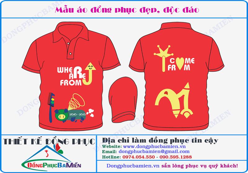áo đồng phục lớp màu đỏ tươi