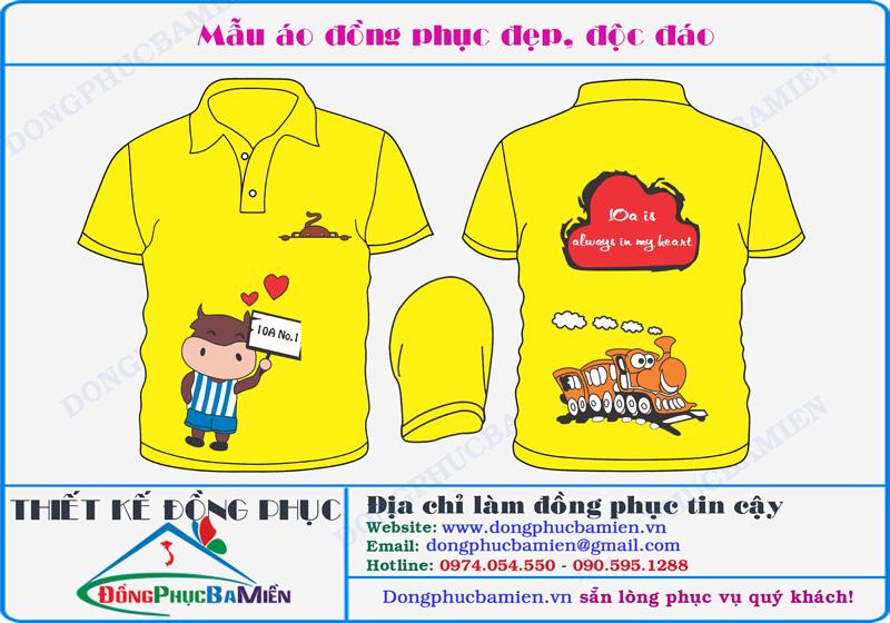 áo đồng phục lớp màu vàng đẹp