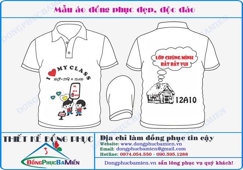 mẫu áo đồng phục lớp 12A10