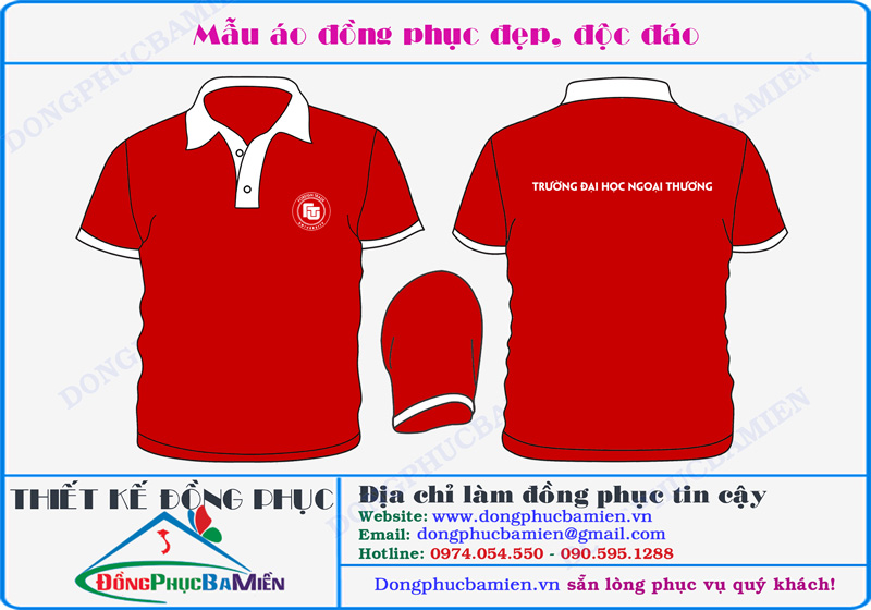 đồng phục lớp màu đỏ