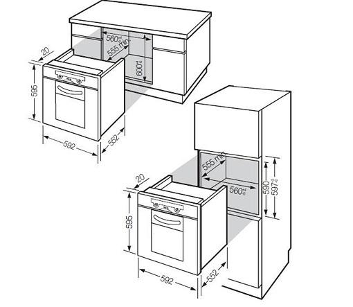 Lò nướng âm tủ Fagor 6H-175 BX