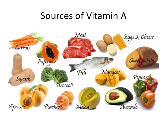 thuc pham chua vitamin a