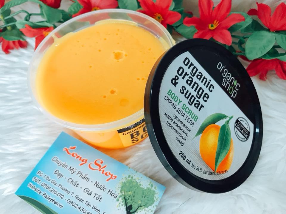 tay da chet body organic shop orange sugar scrub