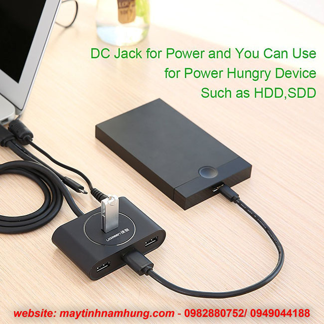 Bộ chia USB 3.0 sử dụng cho Macbook,Mac air,Surface Pro 3,có USB OTG tương thích với Smart Phones Tablet