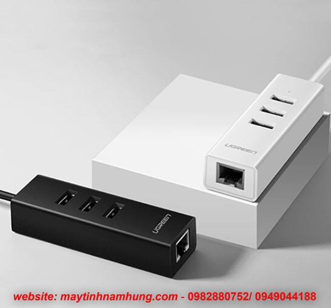 Bộ chia 3 cổng USB tích hợp cổng cắm mạng LAN internet