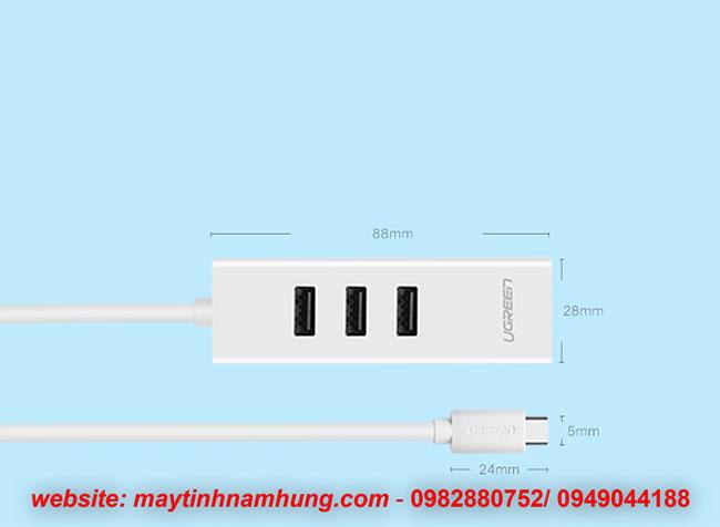 chia cổng USB type C sử dụng cho Macbook Pro 2017