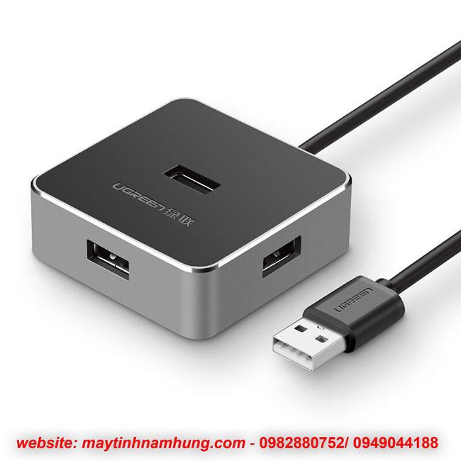 Bộ chia cổng USB vỏ nhôm có nguồn phụ