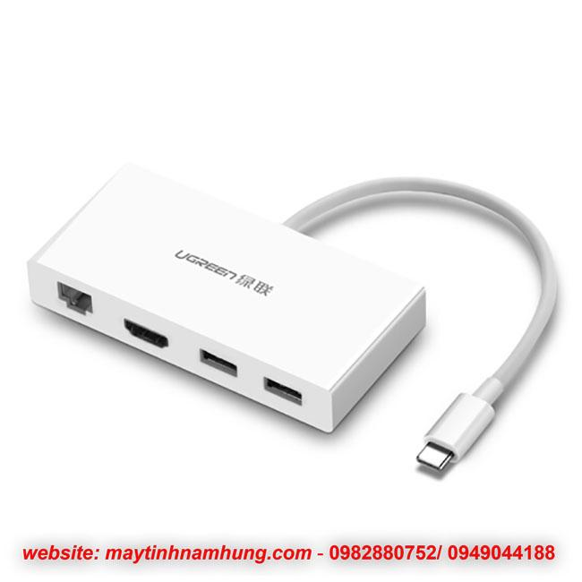 Cáp chuyển đổi từ cổng USB type C ra HDMI USB và cổng mạng LAN