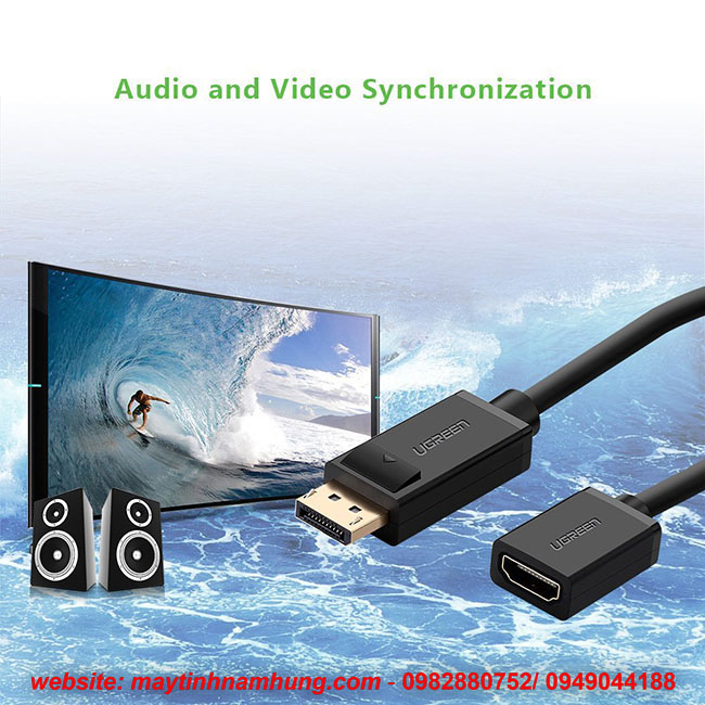 Cáp chuyển cổng Displayport to HDMI Adapter