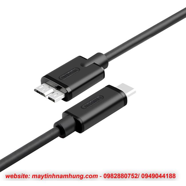 Cáp USB Type C cho ổ cứng di động Unitek YC475BK