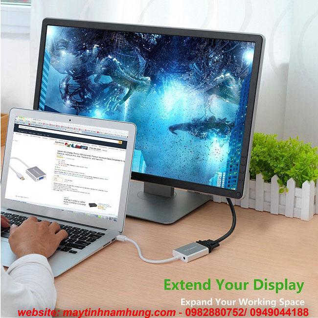 Cáp chuyển Mini Display Port trên Macbook ra máy chiếu VGA