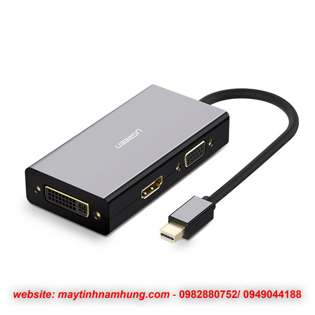 Cáp chuyển cổng thunderbolt trên Macbook ra HDMI+VGA+DVI