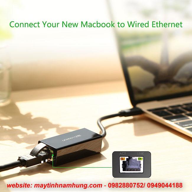 Cáp chuyển cổng kết nối mạng LAN cho Macbook Pro 2017