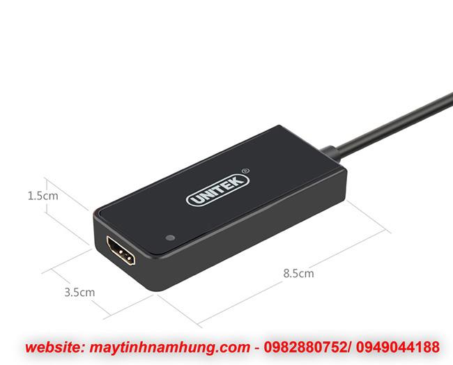 Cáp chuyển đổi USB 3.0 to HDMI mở rộng thêm nhiều màn hình UNITEK Y3702
