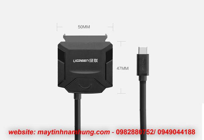 Cáp kết nối ổ cứng sata với cổng USB type C trên điện thoại, laptop Ugreen 40272