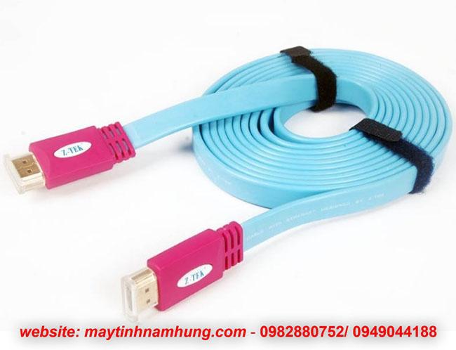 Cáp HDMI chuẩn 2k 4k dạng dẹt cho tivi Ztek ZY014 dài 3 mét