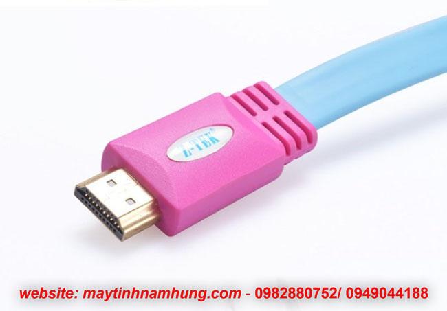 Cáp HDMI chuẩn 2k 4k dạng dẹt cho tivi Ztek ZY015 dài 5 mét