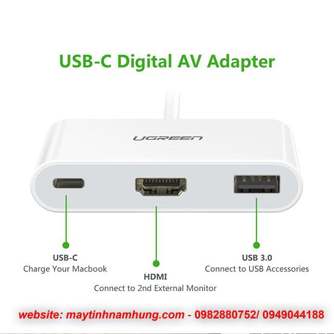 Cáp dùng cho macbook 12 ra máy chiếu USB-C to HDMI