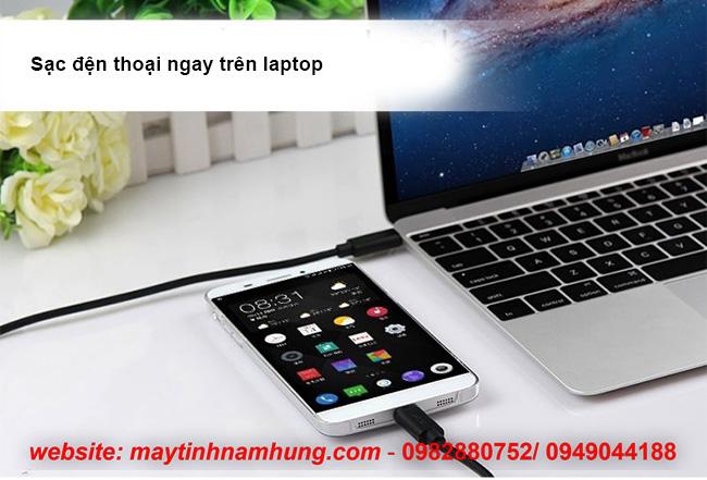 Cáp USB type C kết nối điện thoại với macbook Unitek YC477BK