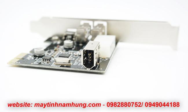 Card PCIe 1394 Firewire 4pin 6pin cho main H61