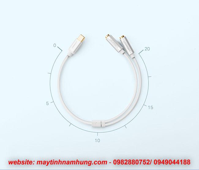 Cáp chuyển USB Type C ra Jack 3.5mm