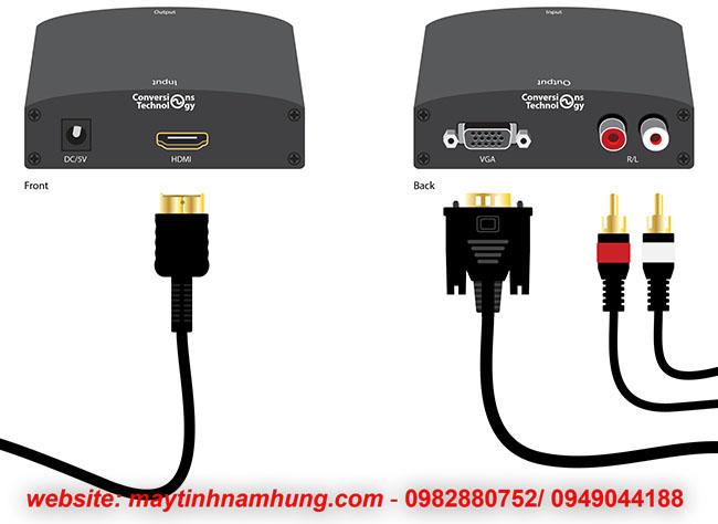 Bộ chuyển đổi từ case máy tính (VGA) ra màn hình tivi (HDMI)