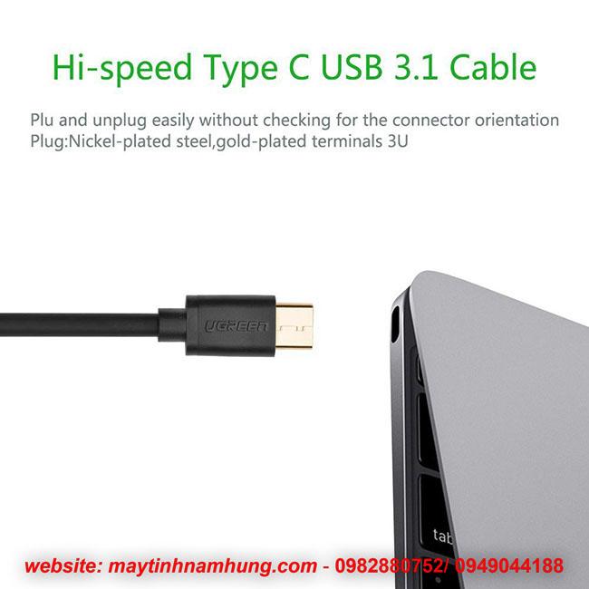 Dây sạc cho điện thoại có cổng USB type C