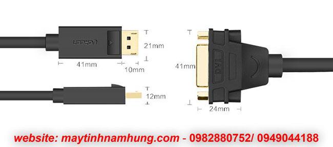 Cáp chuyển cổng Displayport ra DVI (từ card ra màn vi tính)