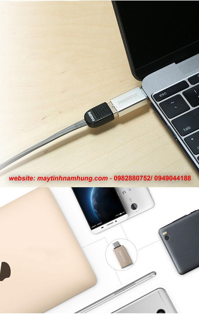 Đầu chuyển dữ liệu USB cho điện thoại (USB type C otg Remax)