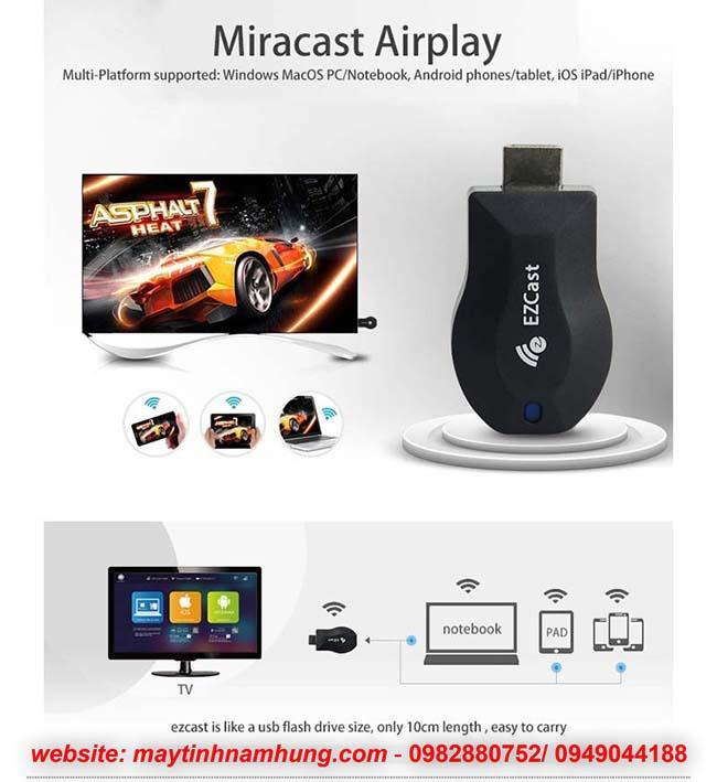 Kết nối HDMI không dây cho điện thoại, máy tính bảng bằng EZcast M2