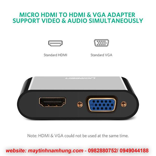 chuyển đổi Micro HDMI sang HDMI VGA cho Ultrabooks, Máy tính bảng, Máy ảnh và Máy quay phim