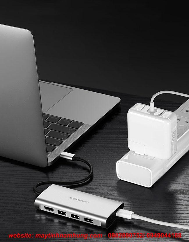 Cáp chuyển cổng kết nối USB, LAN, HDMI, đọc thẻ SD cho Macbook Pro 2017
