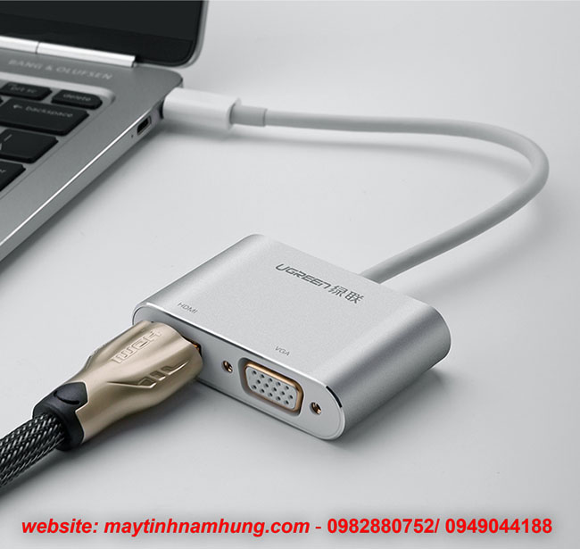 Cáp chyển Thunder bolt 3 ra HDMI VGA cho Macbook, Dell XPS, HP Envy