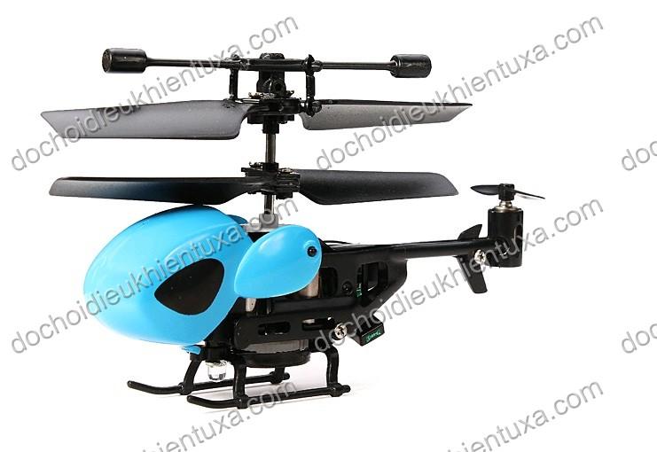 máy bay mô hình trực thăng siêu nhỏ mini chuồng chuồng điều khiển từ xa 2 tầng cánh