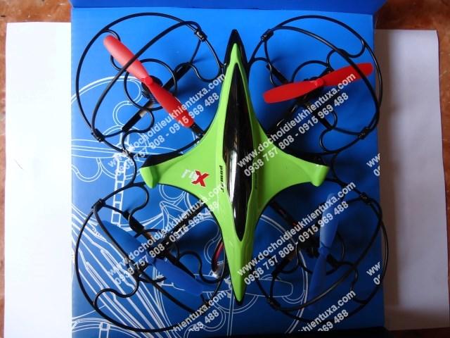 fx 3  đĩa bay quadcorter 4 cánh bay trong nhà sóng 2.4g