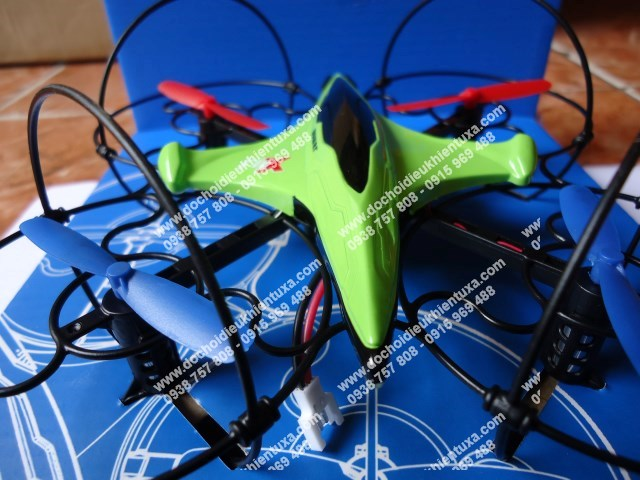 mini fx3 đĩa bay 4 cánh cực đằm sóng điều khiển 2.4g
