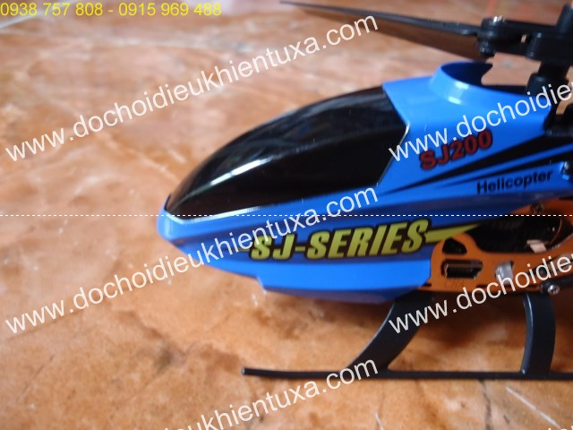 trực thăng xanh điều khiển từ xa 4 cánh mini