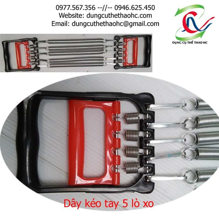 Bộ phận tập cơ lòng bàn tay của dây kéo tay đơn 5 lò xo