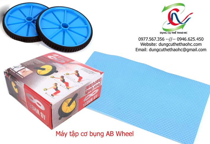 Chi tiết các bộ phận máy tập cơ bụng AB Wheel