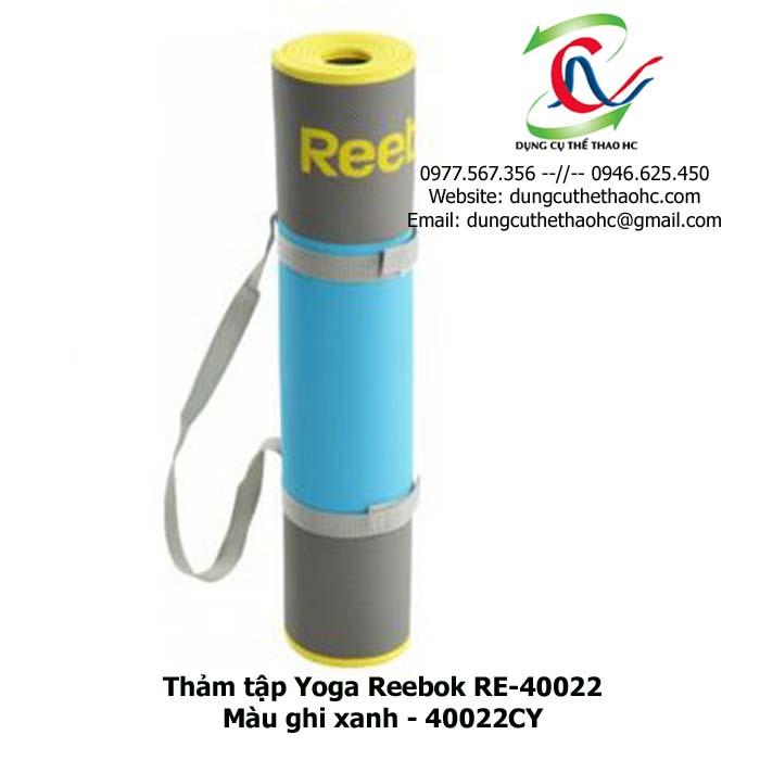 Thảm tập Yoga Reebok RE-40022 ( màu ghi xanh 40022CY)
