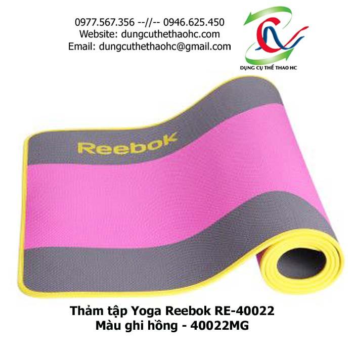 Thảm tập Yoga Reebok RE-40022 ( màu ghi hồng 40022MG)