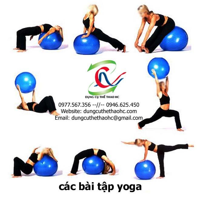 Các bài tập với bóng yoga
