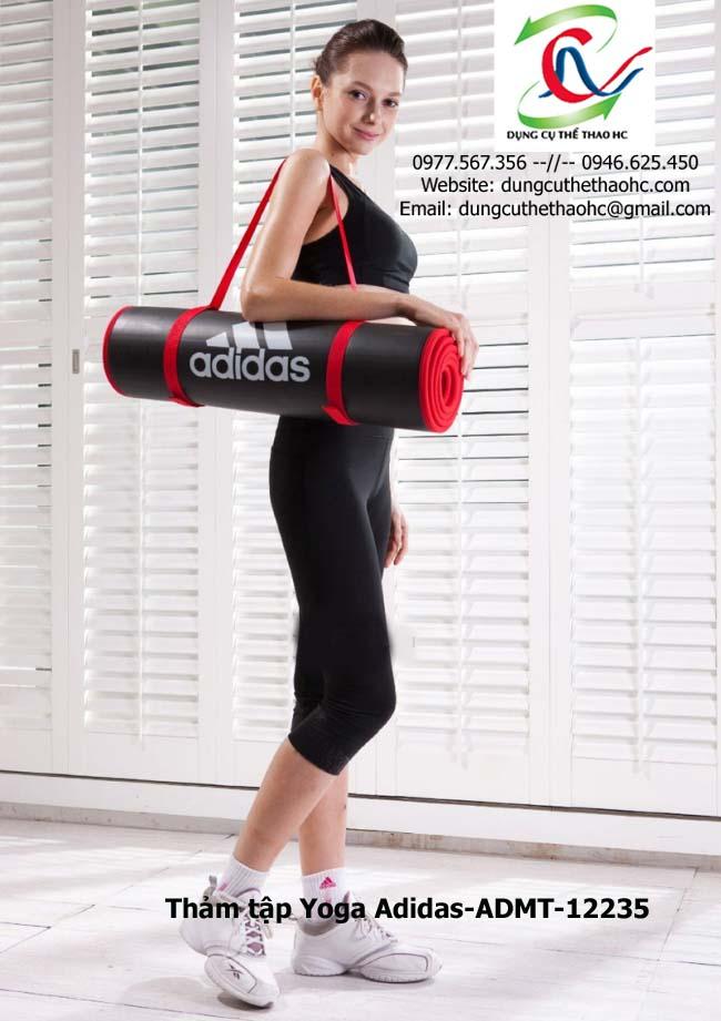 Thảm tập yoga Adidas ADMT-12235 có dây đeo tiện lợi
